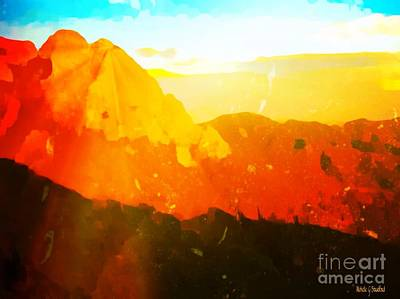 Sandia mountains paintings fine art america sandia mountains painting sandia sunrise by michelle stradford sciox Choice Image