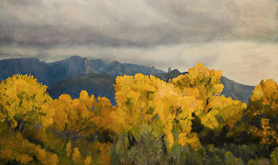 Grande Painting - Sandias From The Bosque by Jack Atkins