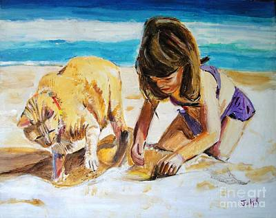 Emotive Painting - Sandi's Helper by Judy Kay
