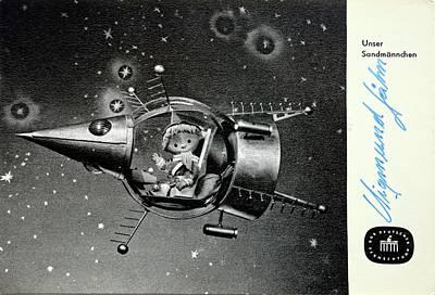 Sandman In Space Art Print by Detlev Van Ravenswaay