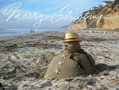 San Diego Sculpture - Sandman Snowman by Mary Helmreich