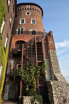 Sandomierska Tower At Wawel Castle In Krakow Art Print