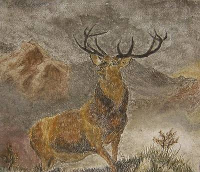 Sandpainting - The Monarch Of The Glen After Landseer Original
