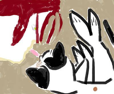 Turkish Van Cat Painting - Sandpaper Kisses by Anita Dale Livaditis