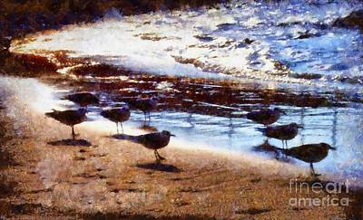 Photograph - Sandpiper Brigade by Janine Riley