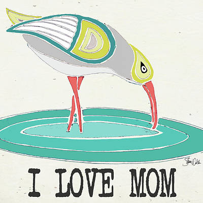 Family Love Painting - Sandpiper by Shanni Welsh