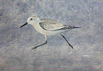 Art Print featuring the painting Sandpiper by Stan Tenney