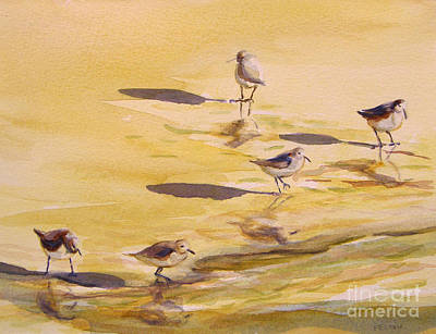 Painting - Sandpipers 5 by Julianne Felton