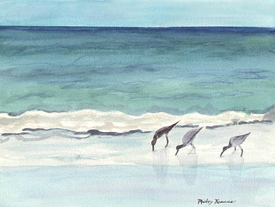 Painting - Sandpipers Doing Their Thing by Mickey Krause