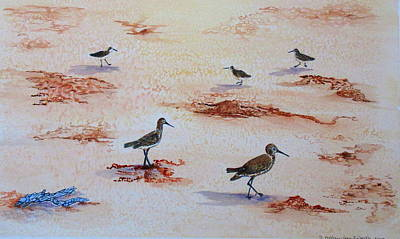 Painting - Sandpipers On Sanibel by Ashley Goforth