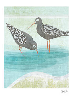 Sea Birds Painting - Sandpipers by Shanni Welsh