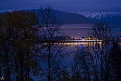 Photograph - 131112a-110 Sandpoint After Dusk by Albert Seger