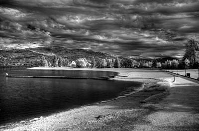 Comic Character Paintings - Sandpoint City Beach In Infrared 2 by Lee Santa