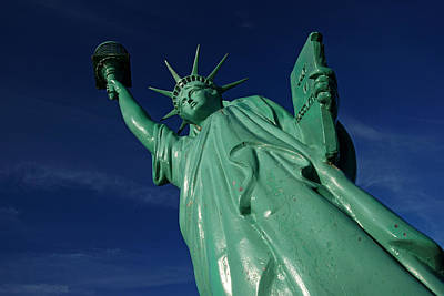 Photograph - Sandpoint's Lady Liberty by Daniel Woodrum