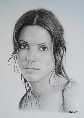 Drawing - Sandra by Brent  Mileham