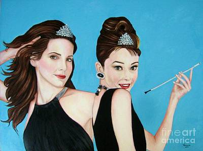 Collectible Mixed Media - Sandra Bullock And Audrey Hepburn by Venus