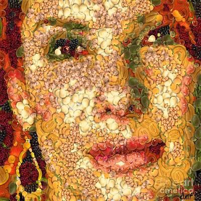 Sandra Bullock In The Way Of Arcimboldo Original by Dragica  Micki Fortuna