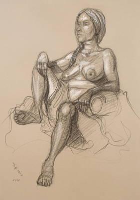 Sandra Reclining #1 Art Print