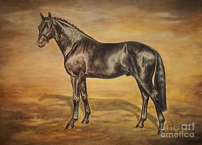 Hanoverian Painting - Sandro Hit Oldenburg Stallion by Dorota Zdunska