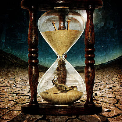 Manipulation Digital Art - Sands Of Time ... Memento Mori  by Marian Voicu