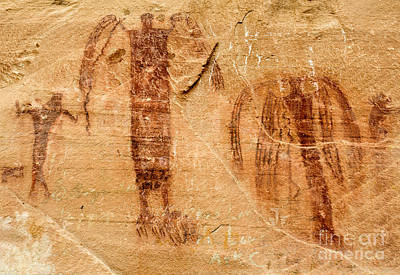San Rafael Swell Photograph - Sandstone Angels - Buckhorn Wash Pictograph Panel - Utah by Gary Whitton