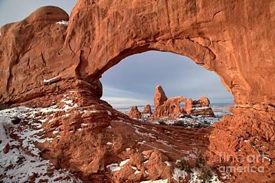 Photograph - Sandstone Arch Window by Adam Jewell
