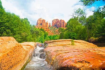 Photograph - Sandstone Chute Sedona by Steven Barrows