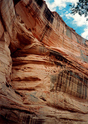 Photograph - Sandstone Cliff In Canyon De Chelly 1993 by Connie Fox