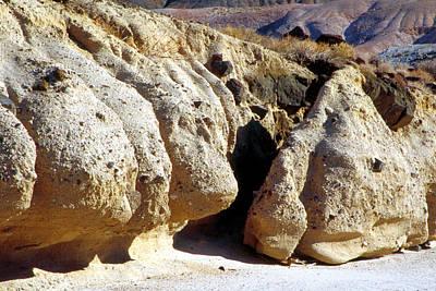 Sandstone Erosions Dry River Bed Art Print