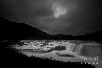 Photograph - Sandstone Falls At Night With Hidden Moon by Dan Friend