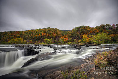 Photograph - Sandstone Falls In The Fall by Dan Friend