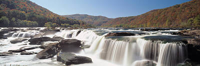 Wv Photograph - Sandstone Falls New River Gorge Wv Usa by Panoramic Images