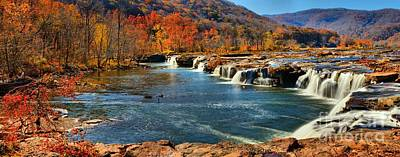 Photograph - Sandstone Falls Panorama by Adam Jewell