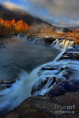 Photograph - Sandstone Falls Sunrise Portrait by Adam Jewell