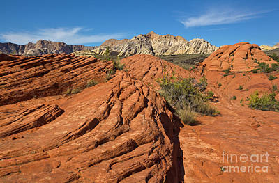 Photograph - Sandstone Formations Snow Canyon by Yva Momatiuk John Eastcott