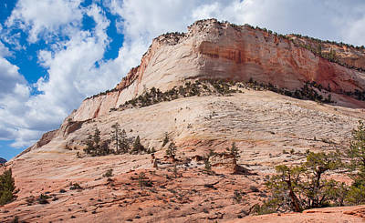Art Print featuring the photograph Sandstone Mountain by John M Bailey