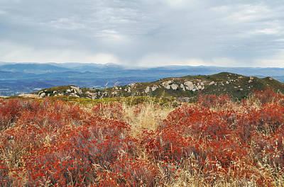 Sandstone Peak Fall Landscape Art Print
