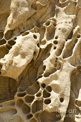 Sandstone Rock Formation Two At Big Sur  Art Print by Artist and Photographer Laura Wrede