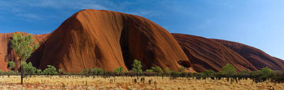 Uluru Photograph - Sandstone Rock Formations, Uluru by Panoramic Images