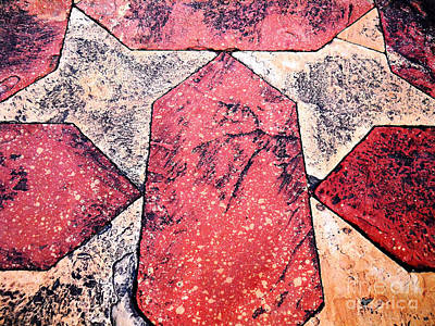 Photograph - Sandstone Tiles by Ethna Gillespie