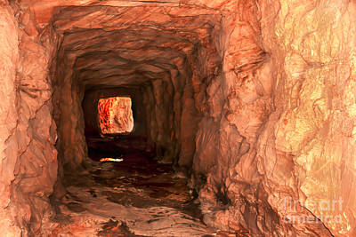 Photograph - Sandstone Tunnel by Robert Bales