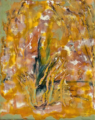 Painting - Sandstorm Encaustic by Bellesouth Studio