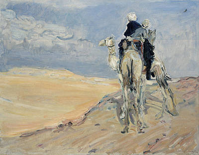 Painting - Sandstorm In The Libyan Desert by Max Slevogt
