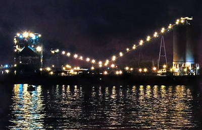 Photograph - Sandusky Coal Dock At Night by Shawna Rowe