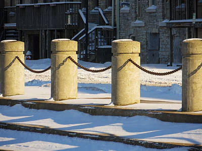 Photograph - Sandusky Ohio - Snowy Pillars by Shawna Rowe