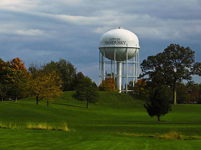 Photograph - Sandusky Ohio - Water Tower by Shawna Rowe