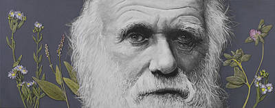 Creation Painting - Sandwalk Wood- Charles Darwin.  by Simon Kregar