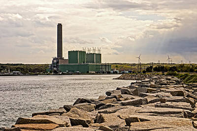 Photograph - Sandwich Power Plant And Canal by Frank Winters