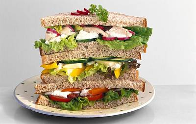 Sandwiches Art Print by Science Photo Library