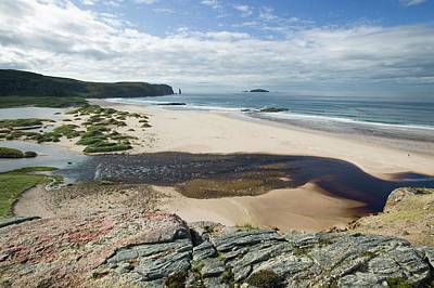 Red Sandstone Photograph - Sandwood Bay In Sutherland by Ashley Cooper